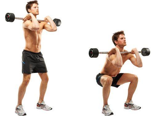 20 squat con un bar